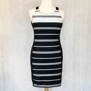 Athleta Black and White Stripe Dress